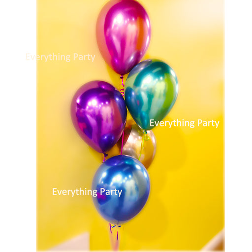 "11"" Chrome  Latex Helium Balloon bouquet"