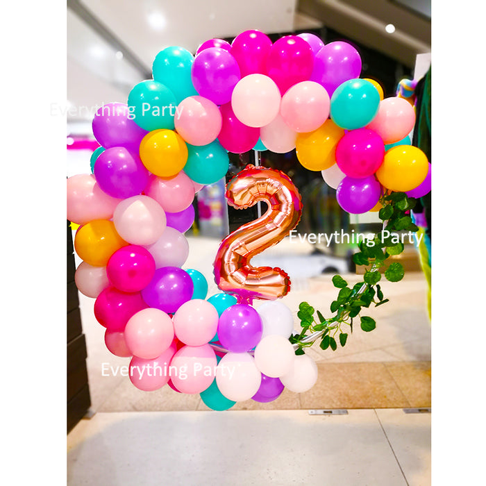 2nd Birthday Balloon Decoration Ring