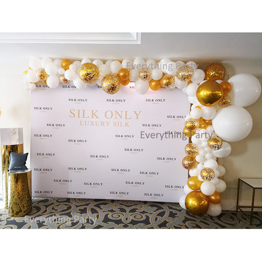gold confetti balloon garland