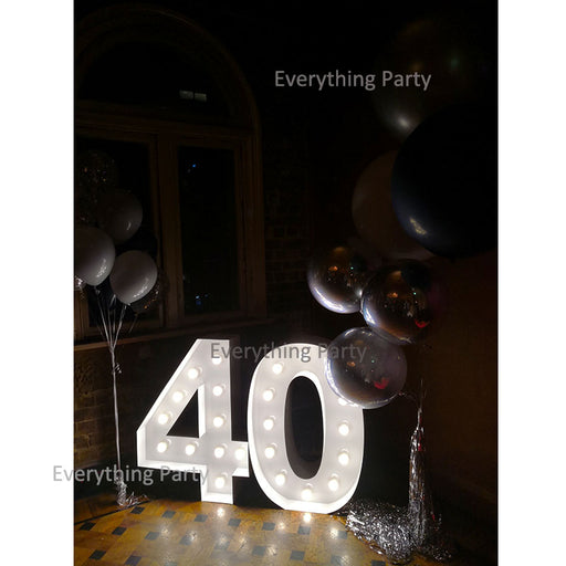 Number LED marquee light, birthday party Number shape Lights