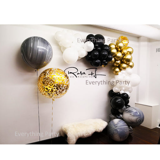 chrome gold balloon garland