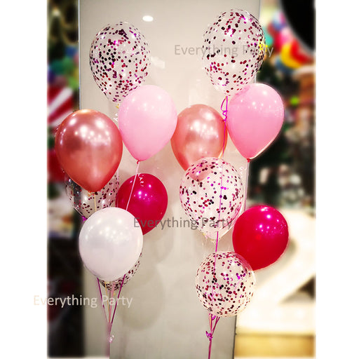 birthday confetti helium balloon set