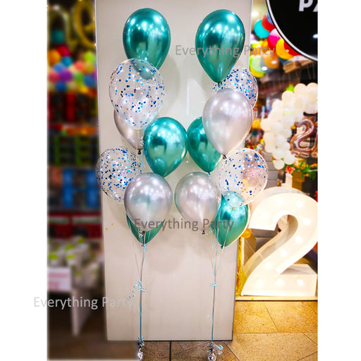 birthday chrome latex balloon bouquet