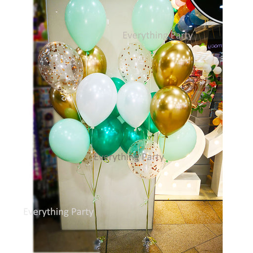 "11"" Pastel Latex Balloon and Confetti Balloon Bouquet"