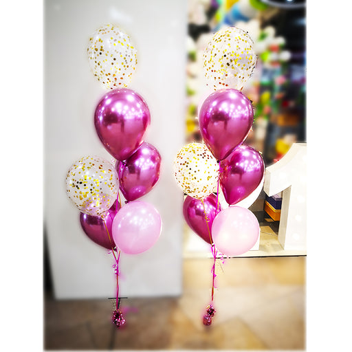 confetti balloon arrangement