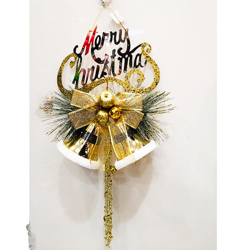100cm Large Christmas Bells with Glitter - Gold
