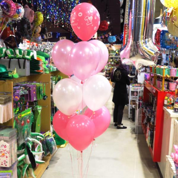 "11"" Qualatex Plain Latex Balloon - Round Fashion Rose"