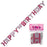 pink glitter Happy birthday joint banner