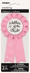 Mother of Bride Pink Badges