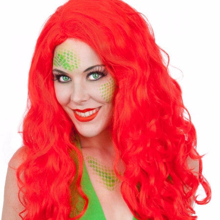 Mermaid wig, long red wig