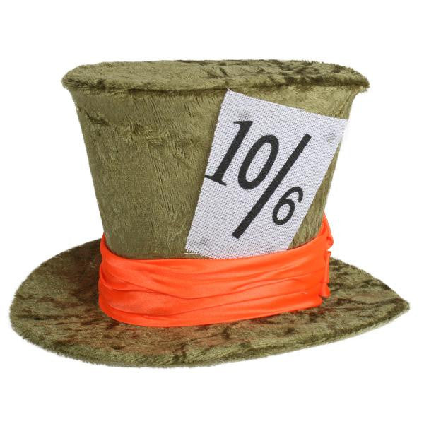 Mad Hatter top hat gold