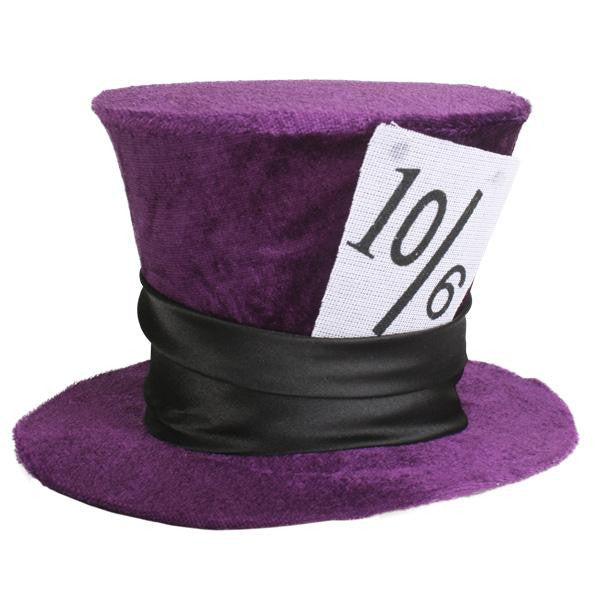 Mad Hatter top hat purple