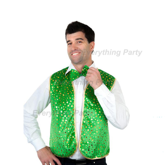 st patrick's day vest and bowtie