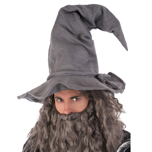 deluxe wizard hat, grey wizard hat