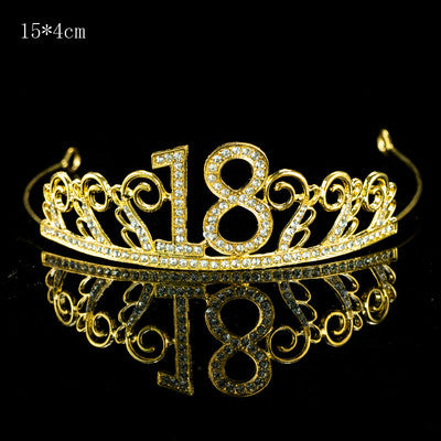 18th birthday cake topper, 18th birthday tiara