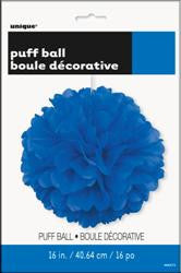 Decorative Paper Puff Ball - Royal Blue