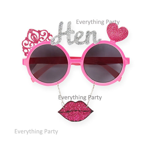 hens party funny glasses