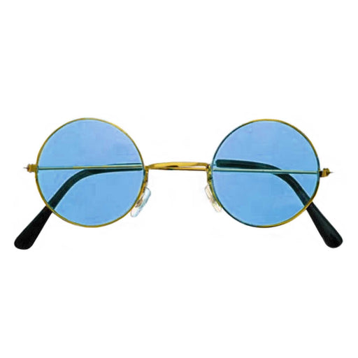 blue lennon glasses, blue hippie glasses
