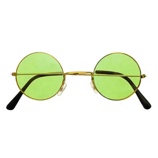 Green lennon glasses, green hippie glasses