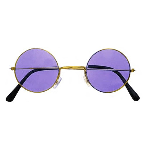 purple hippie glasses, purple lennon glasses
