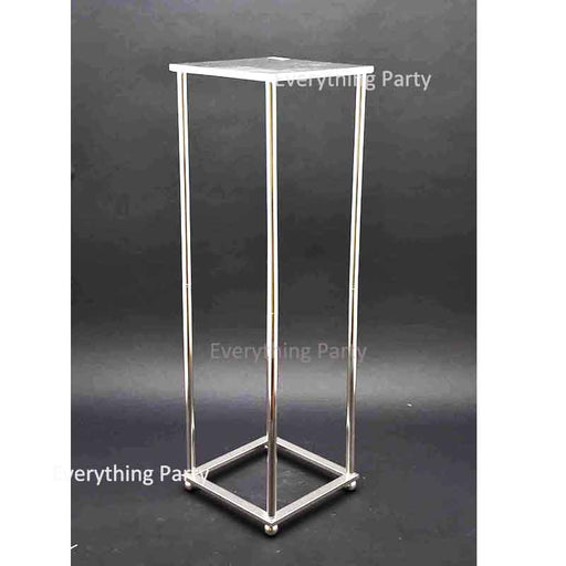 silver cake stand, flower stand hire