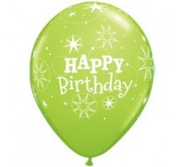 "11"" Qualatex Happy Birthday Sparkles Assorted Colour Latex Balloon"