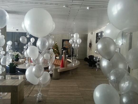 3ft Qualatex Plain Latex Balloon - Round Pearl White