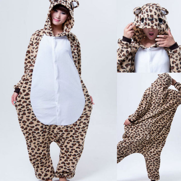 leopard onesie, leopard costume, adult animal onesie