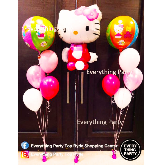 hello kitty helium balloon bouquet
