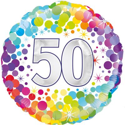 50th birthday rainbow balloon