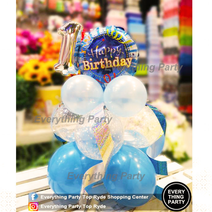 1st Birthday Boy Table Balloon Arrangement
