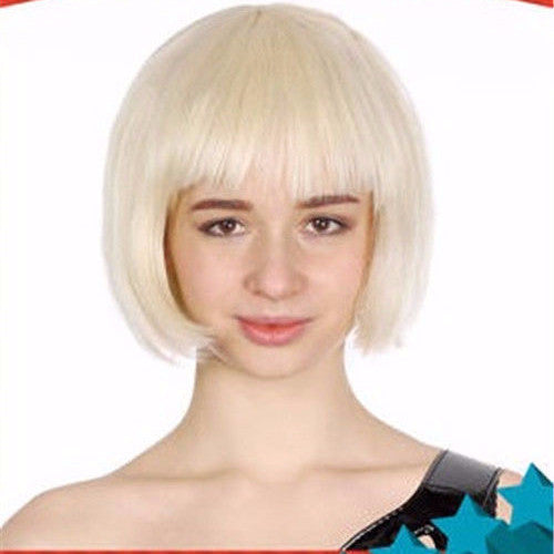 Wig - Bob Wig (Blonde/Yellow/Green/Pink/Purple/Black/Orange)