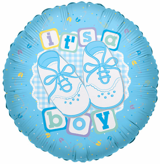 "18"" It's A Boy with Shoes Foil Balloon"