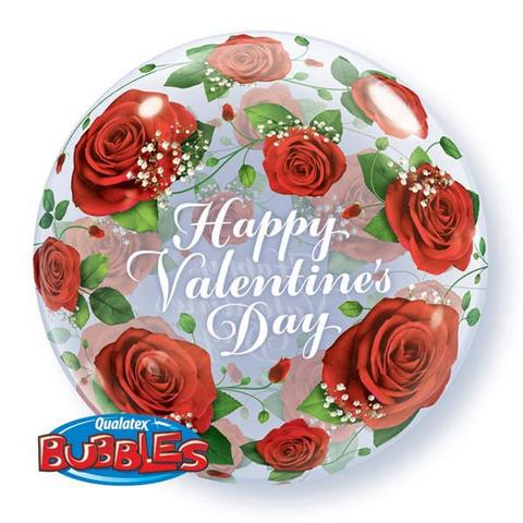 valentines day balloon, rose helium balloon
