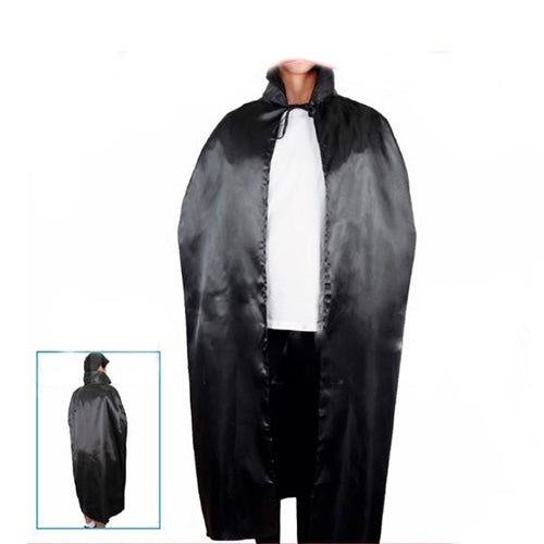 black cape with collar