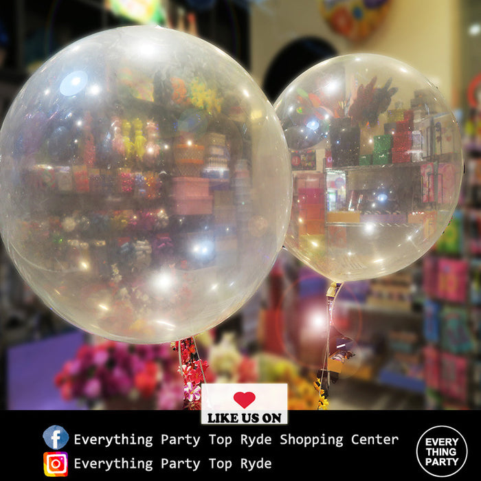 3ft clear, transparent jumbo helium balloon