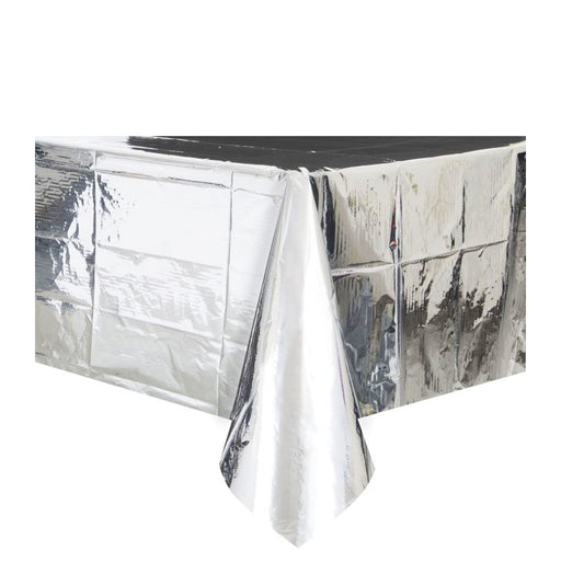 Metallic silver tablecover, metallic silver tablecloth