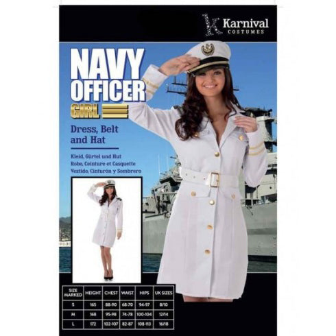 navy officer costume, lady navy costume
