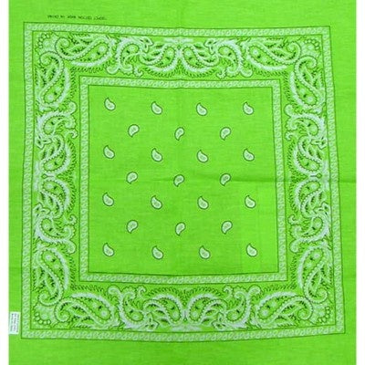 lime green assorted bandana