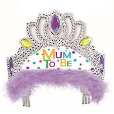 Mum To Be Tiara - (Blue/Pink/Purple)