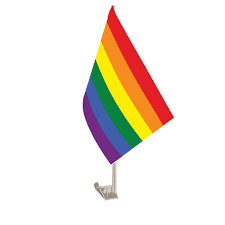 Rainbow car flag
