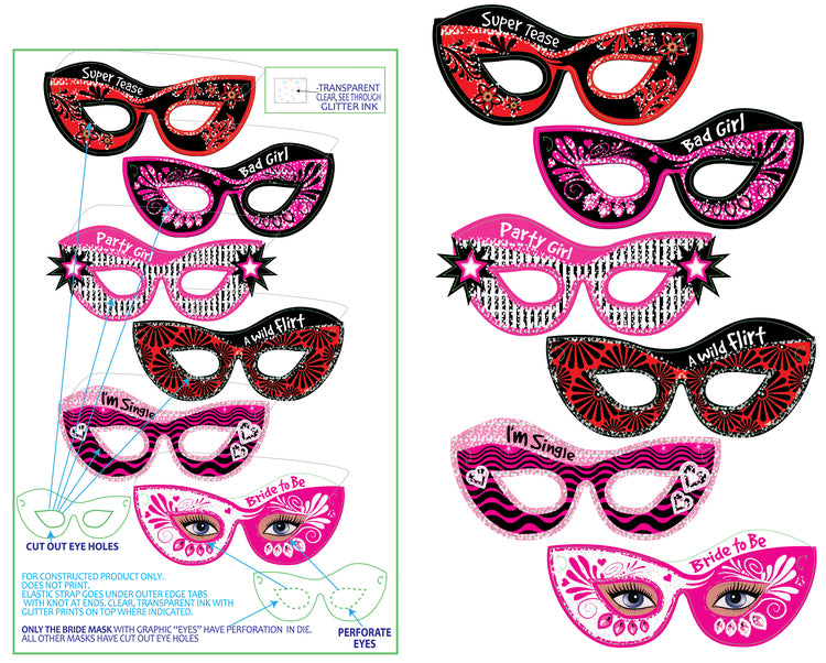 hen's night masks