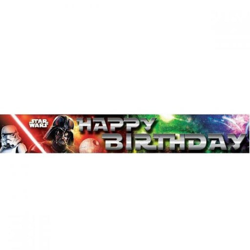 star wars birthday banner