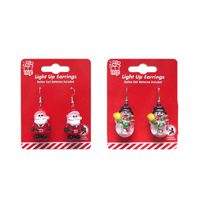 Christmas flashing earrings