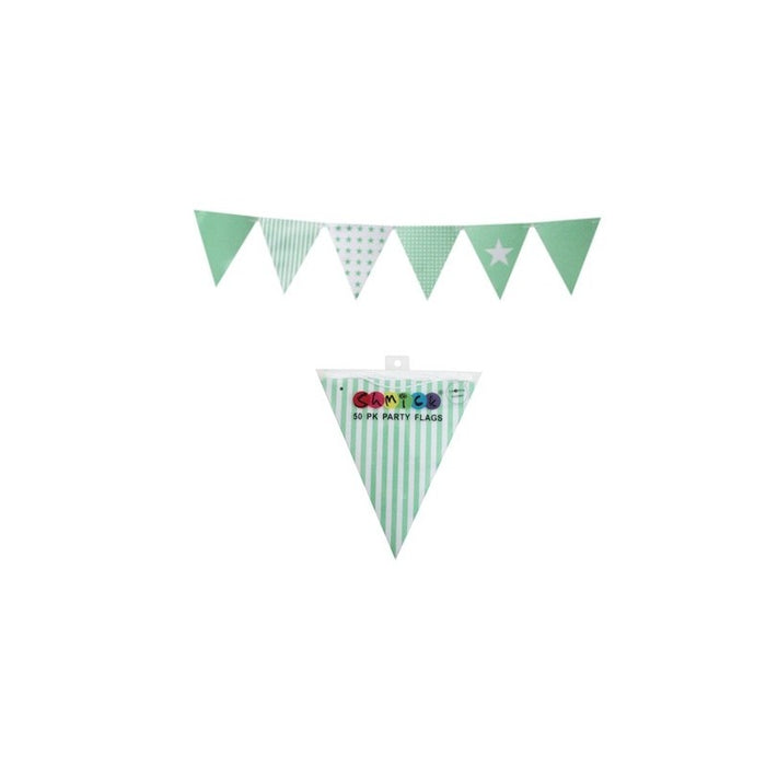 50pk Style Party Bunting with String (6 colours)
