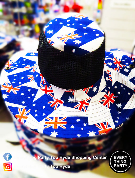 Australia Flag Design Hat with Mesh Top,Accessories - Everything Party