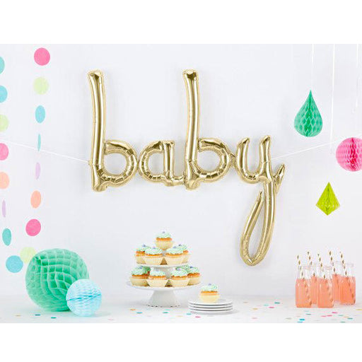 baby gold foil balloon, baby shower balloon decoration