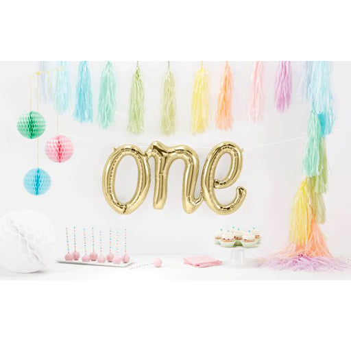 1st birthday balloon decoration, one foil balloon