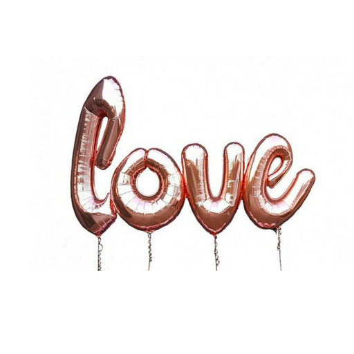 jumbo love helium balloon rose gold