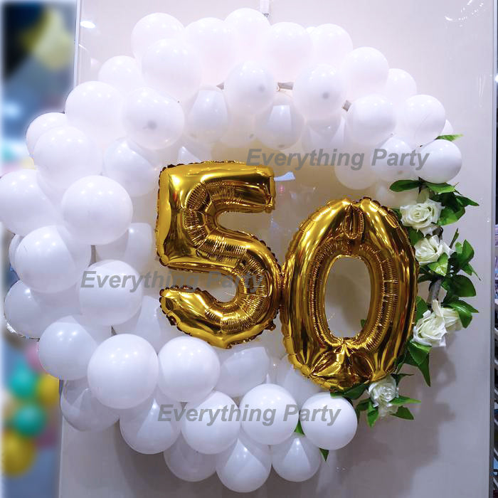 50th Birthday Balloon Wreath